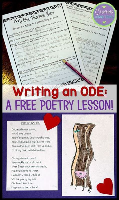 Crafting A In Essay Story Poem by Writing Poetry A Free Lesson For Writing Odes Crafting Connections Poetry