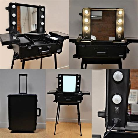 professional makeup with lights professional makeup kit with lights and mirror trolley