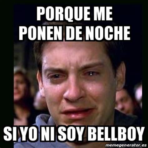 Pete Cbell Meme - meme crying peter parker porque me ponen de noche si yo