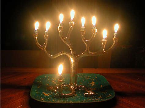 lighted menorah hanukkah lights hanukkah lights