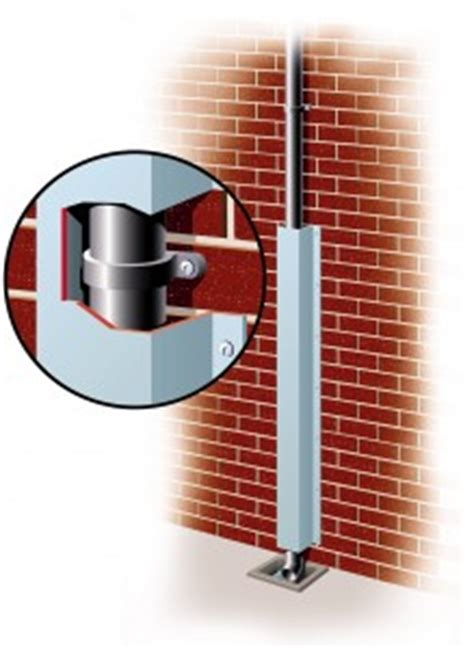 galvanised anti climb pipe protectors downpipes wires security