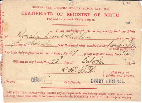 full version of birth certificate 20c diary