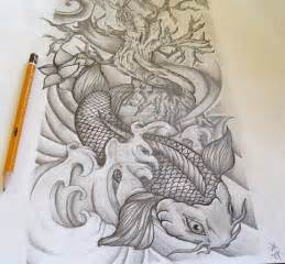 women s half sleeve tattoo ideas dragon koi half sleeve