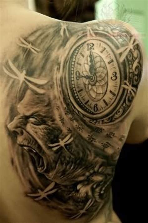 right shoulder tattoo designs 61 stunning clock shoulder tattoos