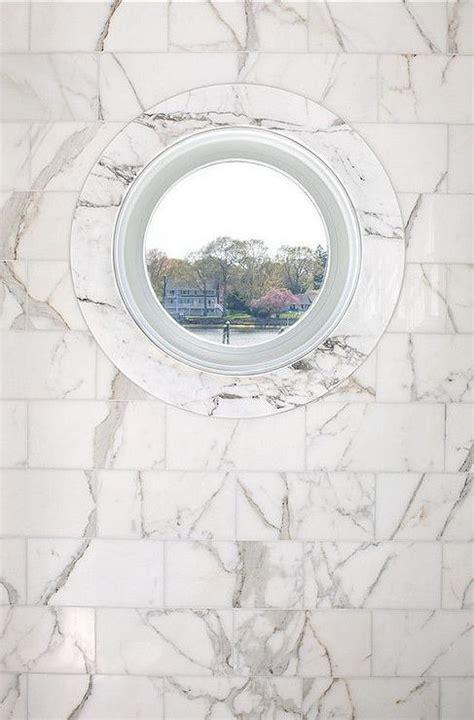 Porthole Windows Bathroom Decorating Marble Shower With Porthole Window Transitional Bathroom