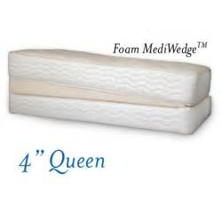 4 quot foam mediwedge mattress bed wedge