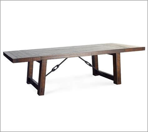 Rustic Mahogany Dining Table Benchwright Extending Dining Table