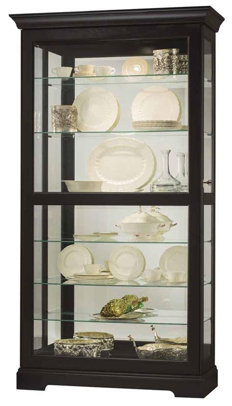howard miller lighted curio cabinet howard miller tyler ii 680 538 black curio cabinet the