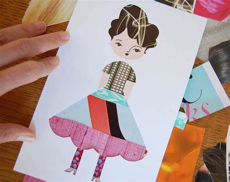 Some Paper Crafts - this idea a bit of a twist on traditional paperdoll