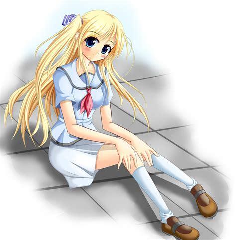 blonde anime schoolgirl blonde schoolgirl by jasphere on deviantart