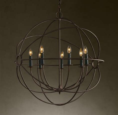 Chandelier Restoration Copy Cat Chic Chic For Cheap Restoration Hardware Foucault S Iron Orb Chandelier Home