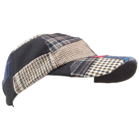 Patchwork Hats - baseball cap hat hawkins tweed patchwork wool one size
