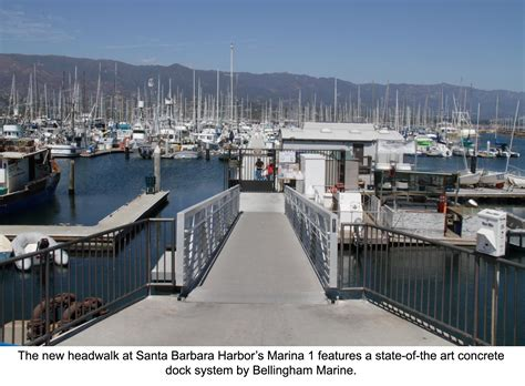 press room santa barbara phase one upgrades completed at santa barbara marina bellingham marine