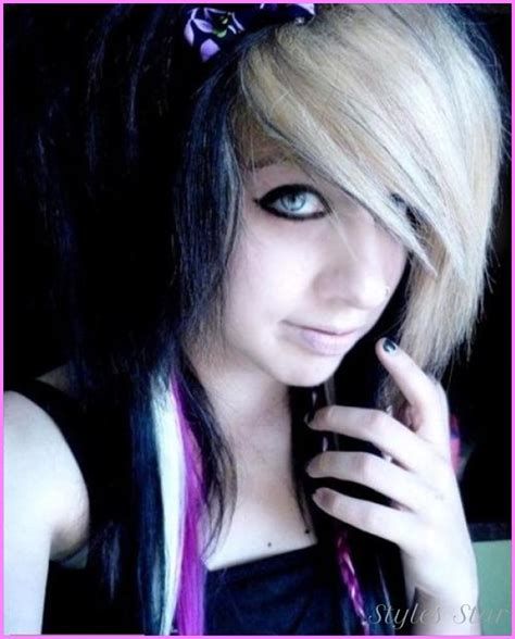 emo hairstyles bangs emo haircut for girls bangs stylesstar com