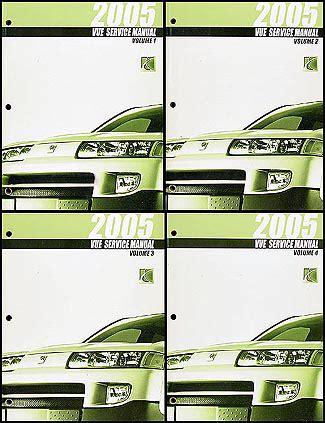 free online auto service manuals 2005 saturn vue regenerative braking 2005 saturn vue repair shop manual original 4 volume set