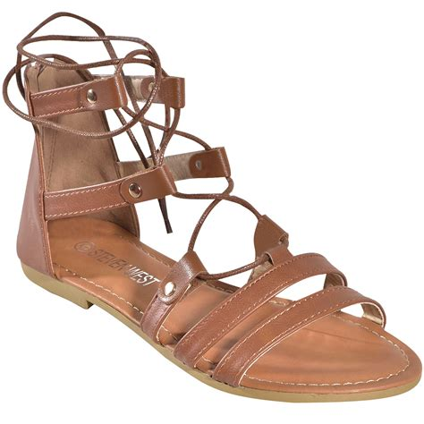 lace up ankle sandals s lace up ankle tie back zip open toe strappy