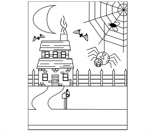 printable haunted house craft smarty pants fun printables our halloween spider and