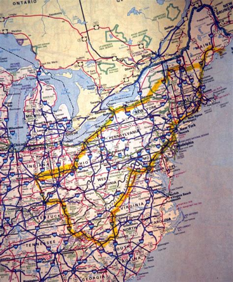 road map eastern usa east coast states related keywords suggestions east