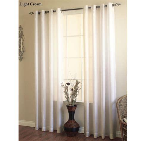 Grommet Curtains With Sheers Martel Semi Sheer Grommet Curtain Panels