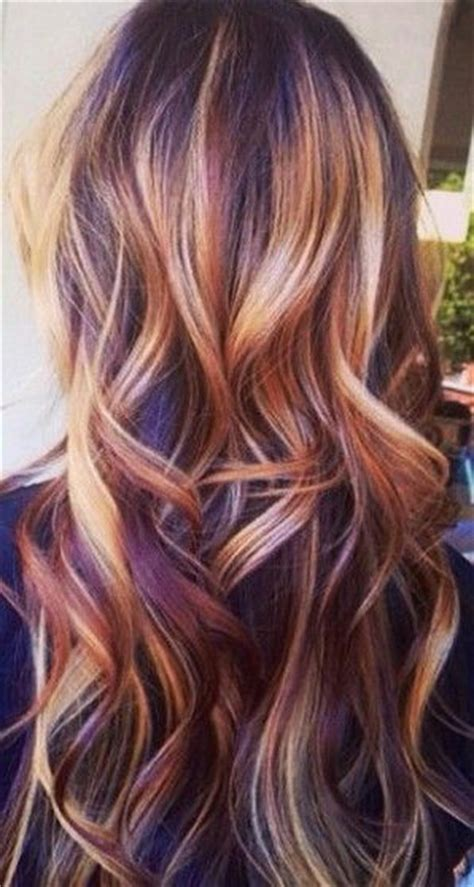 hairstyles multi colored highlights pinterest the world s catalog of ideas
