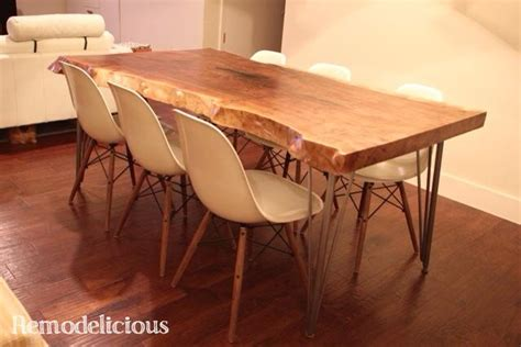 Live Edge Dining Room Table by Our Diy Live Edge Dining Room Table Remodelicious