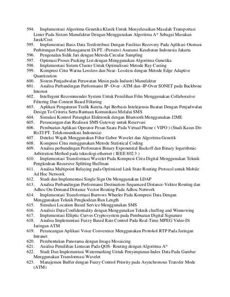 Algoritma Genetika Metode Komputasi Evolusioner Untuk Menyelesaikan contoh judul skripsi tf