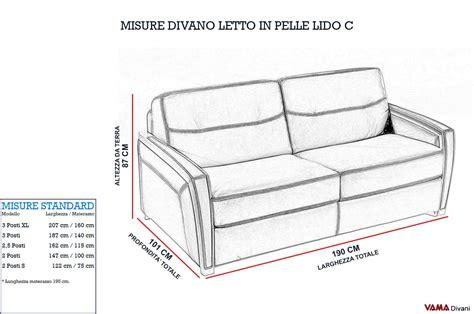 misure divani divano letto matrimoniale moderno in pelle