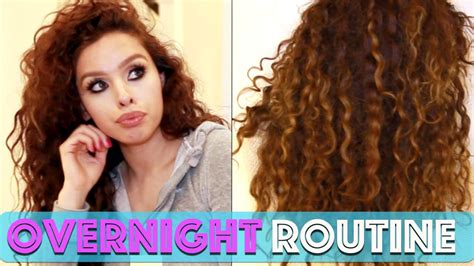 how to curl your hair overnight curly hair routine overnight edition youtube