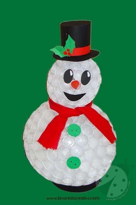 pupazzo di neve con bicchieri di carta come realizzare un pupazzo di neve con i bicchieri di