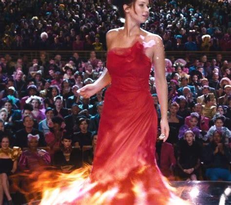 katniss everdeen red dress detail  halloween