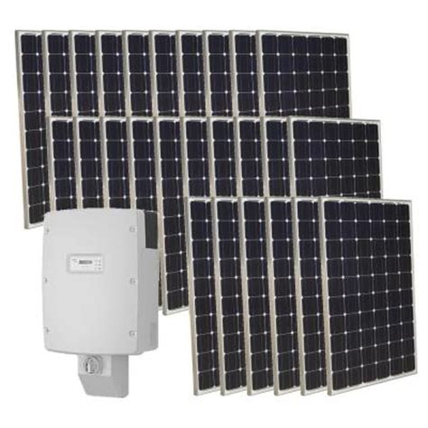 grape solar 6 500 watt monocrystalline pv grid solar