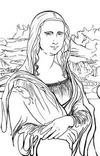 the most awesome and also attractive mona lisa coloring