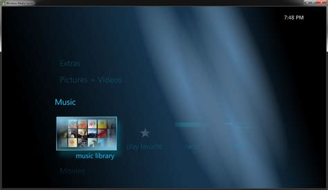 media center themes windows 7 customize windows media center