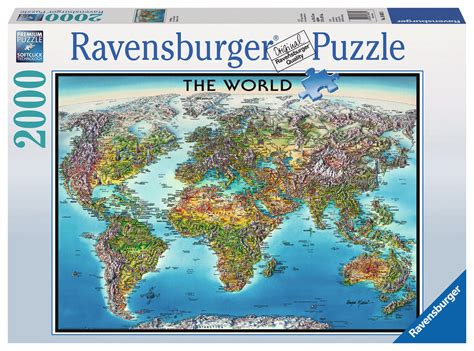 map world puzzle world map puzzle 2000 pieces by ravensburger 16683