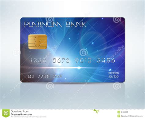 Credit Card On File Template Credit Card Royalty Free Stock Images Image 31068069