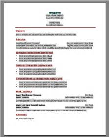 Word Templates For Resume by Resume Templates Microsoft Word 2010 Playbestonlinegames