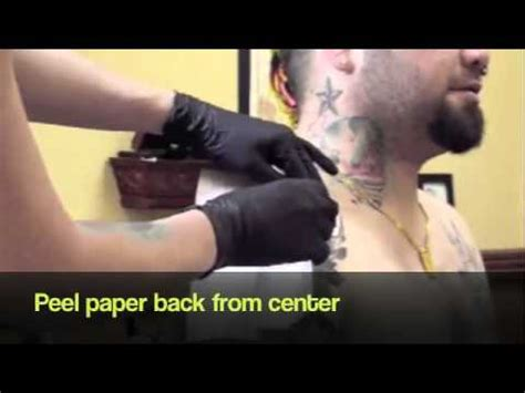 tattoo aftercare youtube tattoo aftercare products tatu derm applying tatu derm