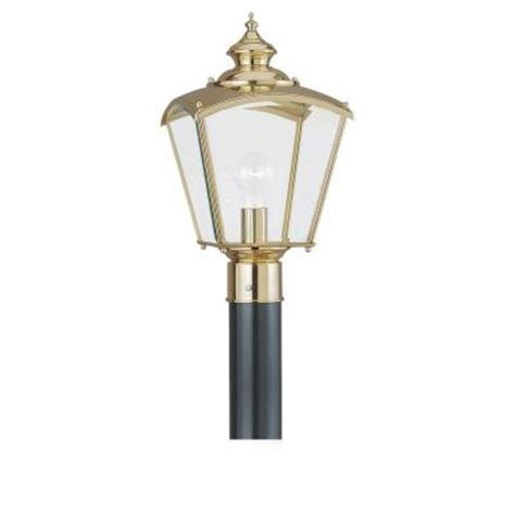 Discontinued Outdoor Lighting Sea Gull Lighting New Castle 1 Light Outdoor Polished Brass Post Top Discontinued 8202 02 The