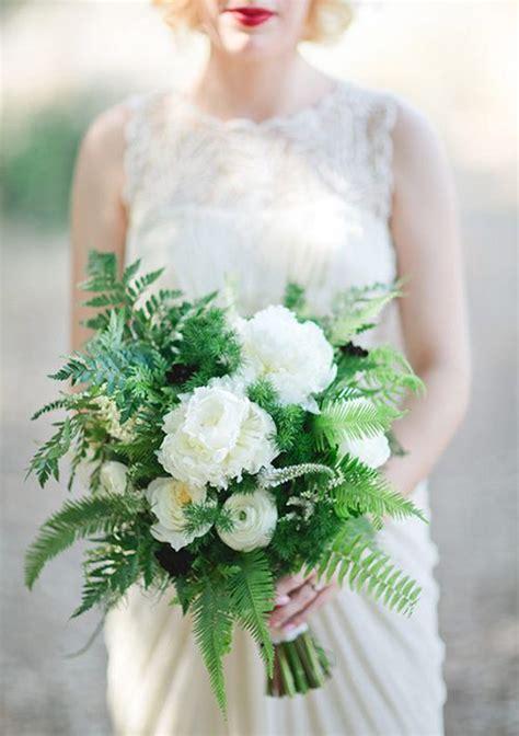 season   fern filled wedding bouquets