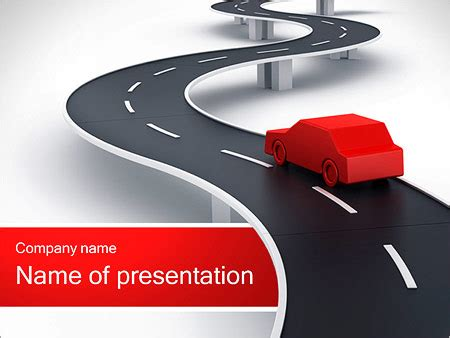 powerpoint themes free download car long road with red car powerpoint template backgrounds