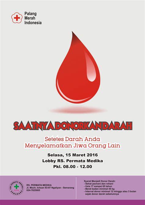 Donor Darah 3 donor darah 15 maret 2016 rs permata medika semarang