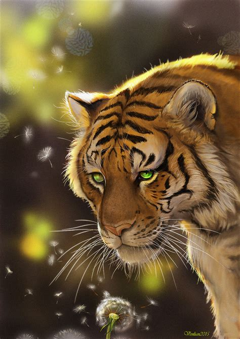 drawing and painting animals tigers day by furrirama on