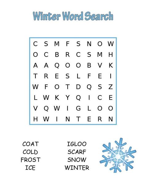 Easy Word Search Printable