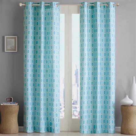 geometric pattern curtain panels intelligent design lexie geometric print curtain panel
