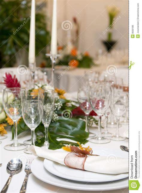 fancy table set for a wedding celebration stock photo fancy table set for a wedding celebration stock image