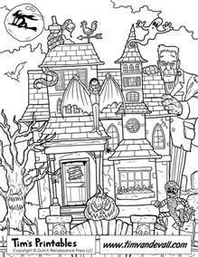 haunted mansion coloring pages printable haunted house coloring page