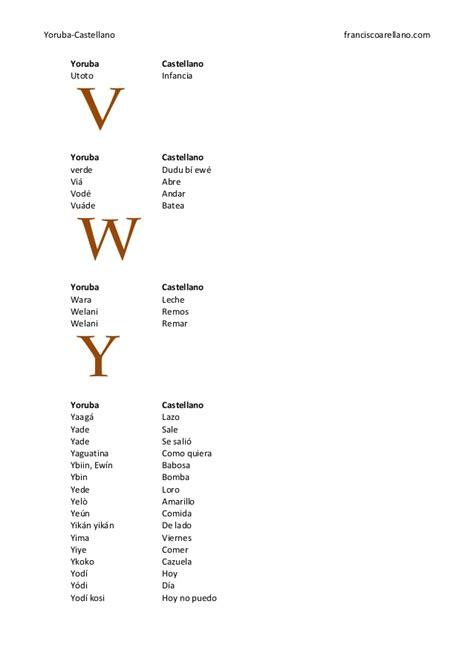 dicionario espaol palabras actiweb diccionario espanol yoruba franscisco arellano