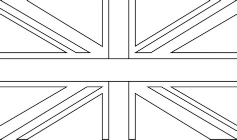 Free England Flag Outline Coloring Pages Uk Flag Coloring Page
