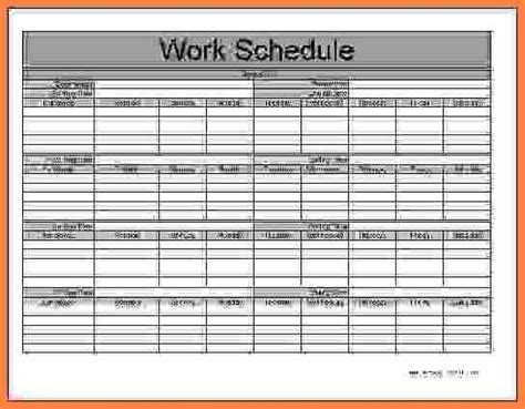 Monthly Employee Schedule Free Download Chlain College Publishing Employee Monthly Schedule Template