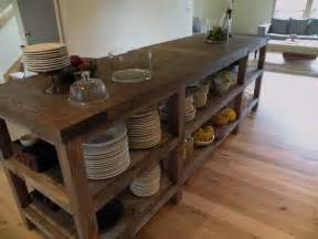 Kitchen Island Wood Reclaimed Wood Kitchen Island Fortikur